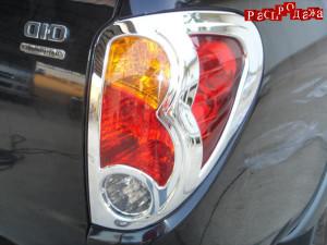 Хром накладки задних фонарей CB-725M-MT для Mitsubishi L200 2006-2013