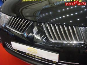 Хром накладки на решетку радиатора для Mitsubishi L200 2006-2013